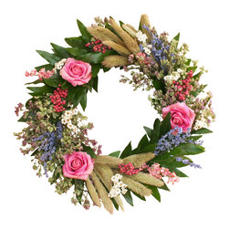 Creekside Farms - Floral Twig Wreath - Handmade on a family farm in California, this wreath is a welcome addition to any front door.