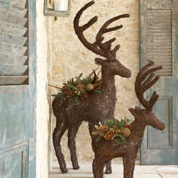 'Alpine' Reindeer - I would place these festive deer on my front porch to make my home's exterior merry and bright.