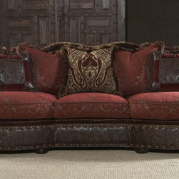 Luxury red burgundy sofa or couch -