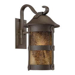 """The Great Outdoors - The Great Outdoors GO 9253-PL 1 Light 21.5"""" Height Outdoor Wall Sconce from the - Single Light 21.5"""" Height Outdoor Wall Sconce from the Lander Heights CollectionFeatures:"""