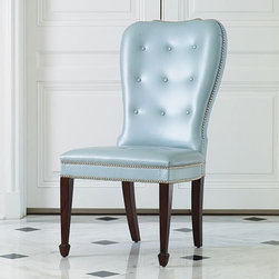 Global Views - Global Views 2441 Charleston Blue Traditional Accent Chair - Global Views 2441 Charleston Blue Traditional Accent Chair