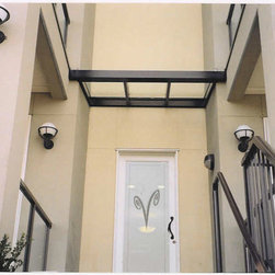 Canopies & Porch Covers - Metal Framed Glass Canopy