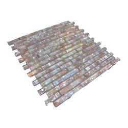 W02 Sierra Beige Shell Mixed Glass Mosaic - Sierra Beige Shell Mixed Glass Mosaic