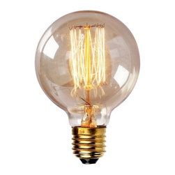 ParrotUncle - Edison Tungsten Globe Filament Vintage Style Light Bulb - Enjoy a touch of period home ambiance with one of our vintage Edison bulbs. Its diamond filament and slight tint creates a warm and welcoming glow that provides authenticity to any sophisticated interior.Faithfully recreated from historic designs, these light bulbs look great in any exposed light socket such as chandeliers, sconces or socket pendants. Brass E26/E27 screw base with clear glass bulb will assure them a 3000 hours average service life.