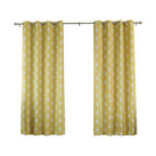 "Best Home Fashion - Arrow Print Room Darkening Grommet Top Curtain 84""L - 1 Pair, Yellow - Our simple and modern Arrow print curtains are a great way to brighten up any home."