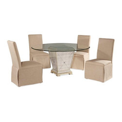 Bassett Mirror - Borghese Casual Dining Set - 8311-000 - Set Inclucdes 1 Table and 4 Chairs