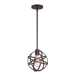Industrial Atom Edison Bronze Modern Mini Pendant Light -