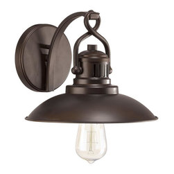 Urban Retro 1-light Wall Sconce in Burnished Bronze -