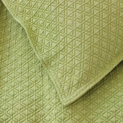 Pine Cone Hill - diamond matelasse coverlet (key lime) - Lightweight, easy-care cotton featuring a subdued geometric pattern. Available in a variety of colors ranging from bright and vibrant to demurely neutral. The perfect basic to dress up any bed. Pair coverlets with matching shams or mix with complementary colors for a fun look. Shams feature envelope back closure.��This item comes in��key lime.��This item size is��various sizes.