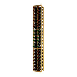 Wine Cellar Innovations - Traditional Series 42 Individual Bottle Wine Racks - The Redwood & Pine 2 Column Individual Bottle wine rack is 21 rows high and stores 42 wine bottles with 2 bottles on top. Assembly required.