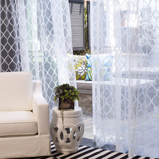 Beach Style Curtains by DrapeStyle