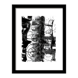 Black and White 1 Modern art print home, office, business decor wall art - Created from original painting giclee fine art print black and white artwork brings a modern feel to your space part of a set of 8 balck and white artworks