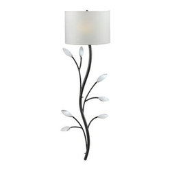 """Kenroy Home - Kenroy Home 32021 Floral 42.5"""" Single Light Metal Branch-Like Decorative Wallchi - Floral 42.5"""" Single Light Metal Branch-Like Decorative Wallchiere Wall Sconce from the Weston CollectionThe elegance of a climbing vine can now be found on your wall with this naturally inspired design, whose leaves provide tiny mirrors that catch the light.*Can be Hard Wired or Cord/Plug Mounted*6' Cord/Plug IncludedFeatures:"""