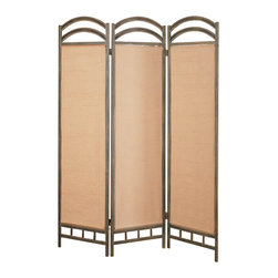 Coaster - Coaster Three Panel Screen Room Divider in Antique Gold - Coaster - Room Dividers - 900106 - The Coaster Collection of folding screens are a simple elegant way to divide a room. Room dividers are great for dorm rooms bedrooms and other areas that need dividing or privacy solutions - also useful for creating separate spaces in a shared home office. Add instant decor and privacy to your home with this beautiful floor screen from Coaster.