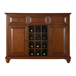 Crosley - Cambridge Buffet Server-Sideboard Cabinet with Wine Storage - Dimensions: 18 x 47.8 x 36 inches