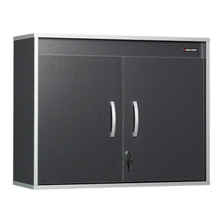 Black & Decker - Black & Decker Laminated Garage and Workshop Wall Cabinet - Create more storage for your tools with this garage wall cabinet from Black & Decker. An adjustable shelf inside the cabinet allows for more storage of tall items. The doors lock to keep chemicals and other harmful items away from children.