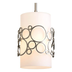 Progress Lighting - Progress Lighting P5314-09 One-Light Mini-Pendant With Opal Etched Glass Cylinde - One-light Mini-Pendant