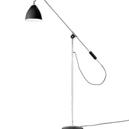 Bestlite - Bestlite BL4 Floor Lamp - Robert Dudley Best drew the first drafts of the lamp that would later become synonymous with his name when he studied to become an industrial designer in Paris and Dsseldorf. As the lamp was the first example of Bauhaus in the UK, strong arguments were needed before the lamp could be put into production. The lamp was produced by the manufacturing firm Best & Lloyd, founded by Best's family in 1840. After mention in the prominent architectural magazine Architects' Journal, the architectural community opened its eyes to the lamp's potential. Bestlite gained everlasting fame when Winston Churchill placed one on his desk in Whitehall.