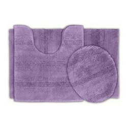 "Garland Rug - Bath Mat: Essence Purple 21"" x 34"" Bathroom 3-Piece Rug Set - Shop for Flooring at The Home Depot. Essence Bath Rugs will complement any bathroom decor. The distinctive stripe pattern gives a modern look. Essence Bath Rugs are made with 100% Nylon for superior softness and quality. Proudly made in the USA."