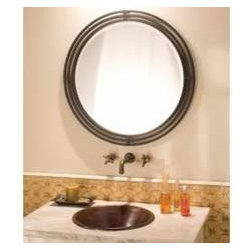 KCK Bathroom Mirrors & Accessories - Asana Mirror - The Asana mirror from Native Trails brings old world charm to a contemporary design. The three ringed frame is hand forged wrought iron made by artisans that have passed down this craft for generations.