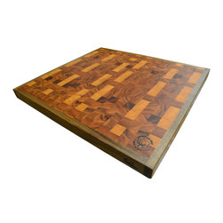 Cotton and Dust Products of West Texas - The Hondo Cutting Board - The Hondo is our largest board- slightly larger than The West Texan, with the distinct feature of a custom Black Walnut border. It will be the premium centerpiece in your kitchen, sure to catch the most discerning eye. Prepare to impress your friends, and your food.