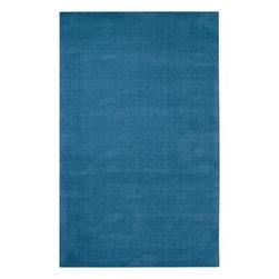 Surya - Surya Mystique 5' x 8' Solid Plush Rug, Dusk Blue (M342-58) - Surya M342-58 Mystique 5' x 8' Solid Plush Rug, Dusk Blue