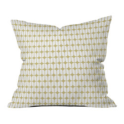 Caroline Okun Modular Beige Outdoor Throw Pillow - Do you hear that noise? it's your outdoor area begging for a facelift and what better way to turn up the chic than with our outdoor throw pillow collection? Made from water and mildew proof woven polyester, our indoor/outdoor throw pillow is the perfect way to add some vibrance and character to your boring outdoor furniture while giving the rain a run for its money.