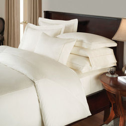 Downright - Ambience White Twin 68x86 Duvet - - Bring classic elegance to your bedroom with the Ambience Linen collection. Featuring the timeless design of detailed faggoting embroidery, this 400 thread count sateen linen realizes stylish sophistication in its elegant simplicity.  - Level of Fill:White  - Cover Fabric: 400TC, 100% Cotton  - Color: White, 68x86 Downright - AMBI-DUV-T-WH