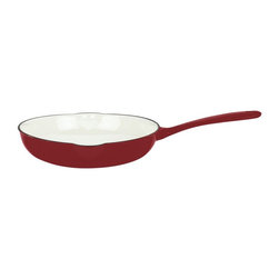 Mario Batali by Dansk - Mario Batali by Dansk Classic 10 in. Skillet - Chianti Multicolor - 826837 - Shop for Skillets & Fry Pans from Hayneedle.com! A 10-inch skillet is indispensable. You will reach for this Mario Batali by Dansk Classic 10-in. Skillet in Chianti daily. It's made with a durable even-heating cast iron core with a sizzling chianti red enamel outside and glossy white inside. It cleans like a dream and is oven-safe as well as perfect to use on any gas electric induction or ceramic-top ranges. The perfect omelet pan!
