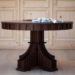 Traditional Cottage Dining - Our Ralph Dining table is simply delicious. It has striking architectural lines that make it real style asset to any dining room or foyer. Crafted using traditional mortise and tenon joinery.