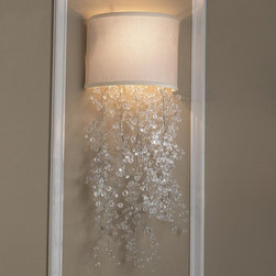 Dripping Crystal Shade Sconce - 2 Colors -