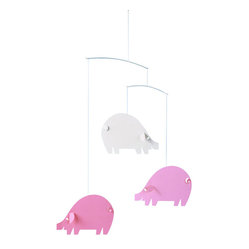 Piggy Mobile, Pink and White