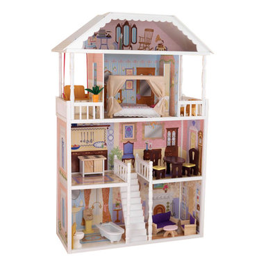 Kidkraft - KidKraft Savannah Dollhouse - Kidkraft - Doll Houses - 65023 - Savannah Dollhouse is filled with details that your little ones are sure to love. The Savannah Dollhouse is one of our most elegant dollhouses to date. Decorated like a true southern mansion this gorgeous house is sure to provide girls with hours of fun imaginative play. It is of superior durability and design will keep children entertained for years!