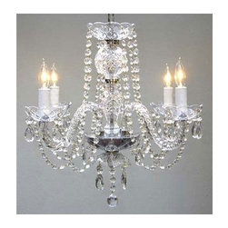 Gallery - Gallery T40-407 Authentic 4 Light 1 Tier Crystal Candle Style Chandelier - Features: