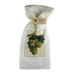 Grapes    Flour Sack Towel  Set of 2 - A fabulous set of 3 flour sack towels. This set features a wonderful antique botanical fruit print of Grapes.   These towels are printed in the USA by American Workers!