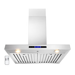 "AKDY - AKDY AG-ZZ01 Euro Stainless Steel Wall Mount Range Hood, 30"" - The AKDY Z01 combines European design with tremendous value to meet the requirements of today's conventional appliance and kitchen styles. Its 760 CFM centrifugal blower and multispeed control provide quiet, effective performance. A fully enclosed bottom contains a dishwasher safe filter for easy cleaning. Plus, dual cooktop illumination.Optional recirculating kits are available."