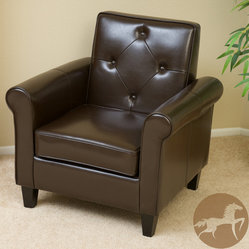 Brown Leather Club Chair Products on Houzz