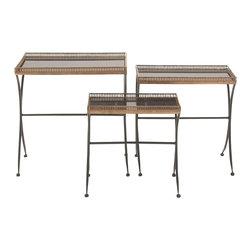 Truly Purposeful Metal Marble Nest Table, Set of 3 - Description:
