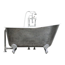 "Penhaglion - 'The Easby' 57"" Cast Iron Swedish Slipper Tub Package from Penhaglion - Product Details"