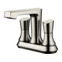 YOSEMITE HOME DECOR - Two Handle Lavatory Faucet - Washerless Cartridge Two Handle Lavatory Faucet No Pop up Drain included Brush Nickel Finish