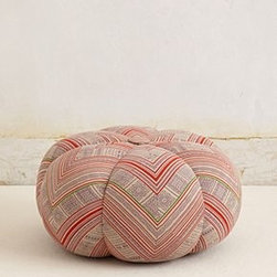 """Anthropologie - Handwoven Sawan Pouf - Cotton; polyfillProfessionally clean16""""H, 24"""" diameterImported"""