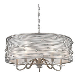 Golden Lighting - Golden Lighting 1993-5 PS 5 Light Chandelier - Transitional style, ideal for eclectic and contemporary room decor