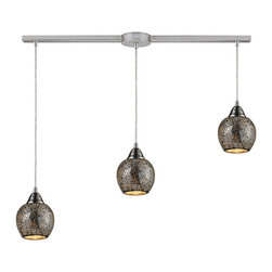 ELK - ELK 10208/3L-SLV Pendant - Individuality Is What Defines This Exquisite Line Of Hand Blown Glass. Each Piece Is Meticulously Hand Blown With Up To Three Layers Of Uncompromising Beauty And Style.