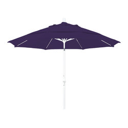 California Umbrella - 11 Foot Pacifica Crank Lift Collar Tilt Aluminum Patio Umbrella, White Pole - California Umbrella, Inc. has been producing high quality patio umbrellas and frames for over 50-years. The California Umbrella trademark is immediately recognized for its standard in engineering and innovation among all brands in the United States. As a leader in the industry, they strive to provide you with products and service that will satisfy even the most demanding consumers.