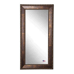 Rayne Mirrors - American Made Roman Copper Bronze Full Length Mirror - The handsomeRoman Copper Bronze full length mirrorwill add a touch of elegance to any room. The 3 inch wooden frame features a smooth cracked bronze finish to complement a wide range of decor. This mirror's abstract carved design and inner beaded border gives it a unique look.  Perfect to hang or lean.  Rayne's American Made standard of quality includes; metal reinforced frame corner  support, both vertical and horizontal hanging hardware installed and a manufacturers warranty.