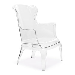 Zuo Modern - Zuo Modern Vision Modern Chair - If there was a transparent Versailles floating in an alternate universe, that's where you would find the The Vision Chair. Made of clear polycarbonate, it's an intriguing hybrid of modern materials and antique silhouette. Make the old new again.