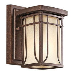 Kichler Lighting - Kichler Lighting 49146AGZ Riverbank Arts and Crafts/Mission Outdoor Wall Light - Kichler Lighting 49146AGZ Riverbank Arts and Crafts/Mission Outdoor Wall Light - Small In Aged Bronze