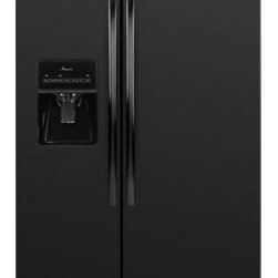 Amana - ASD2575BRB 25.5 cu. ft. Side-by-Side Refrigerator With Temp Assure Freshness Con - You39ll have plenty of room for both chilling and freezing in this Amana 255 cu ft ENERGY STAR qualified side-by-side refrigerator The freezer door has an ice and water dispenser with a PUR water filtration system This unit has three Spillsaver glass...