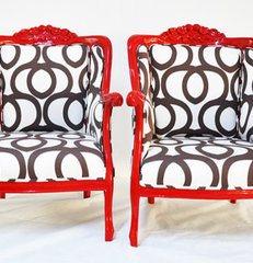 eclectic armchairs by Etsy