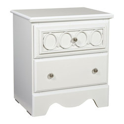 Standard Furniture - My Room Nightstand - White - 64607 - Shop for Nightstands from Hayneedle.com! Cute and customizable the My Room Nightstand - White is a smart bedside companion. This nightstand features curvy feminine lines and framed fretwork panels. Four interchangeable color panels slide behind the fretwork for a pop of color. She's going to love having the option of mixing matching and changing colors as she desires. Nightstand includes one panel of each color: white deep pink spring green and lavender. The nightstand has two generous drawers and a top perfect for a lamp alarm clock and more. It's well-crafted of quality wood products with updated white laminate veneer and clear faceted acrylic knobs for sparkle.About Standard FurnitureFounded in 1946 as a family owned American-based company Standard Furniture operates their own manufacturing and distribution facilities in Bay Minette and Frisco City Alabama with more than 80% of their entire workforce based out of the United States. Their 1.4 million square feet of manufacturing space 1.5 million square feet of warehouse space and more than 40 trucks enable them to keep up with customer demand. Their main focus is to assist their customers in growing their retail businesses by supplying products that will sell due to quality design and value. As one of the leading case goods manufacturers in the market Standard Furniture's continual growth and presence in the market place has remained steady over the last 60 years.